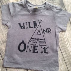 Hipster Birthday Shirt First Birthday Teepee Pow wow wild one first birthday wild and one shirt