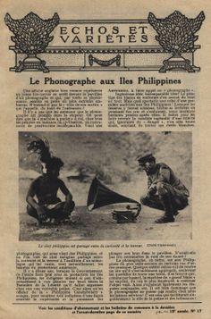 Le phonographe aux Iles Philippines