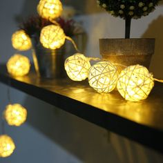 5m 20 Rattan Balls Lights Led String Fairy Holiday Christmas Lights Outdoor Guirlande Lumineuse Exte-  Item Type: Beads  Brand Name: YIMIA  Voltage: 220V  Waterproof: Yes  Plug Type: EU Plug  Model Number: AC-100703 Rattan ball lights  Power Source: AC  Shape: Ball  Voltage: 220V/110V  Suitable holidays: Halloween/Thanksgiving/Valentie's Day/New Years Day/Christmas  Suitable place: Wedding, Hotels,Home,Clubs,Concerts,Karaoke, Dance, Stage,Entrance  led fairy lights: Yes  guirnalda de luces…
