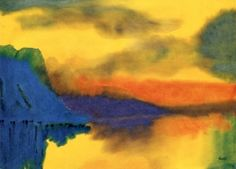 Mountain Lake with Cloud - Emil Nolde -
