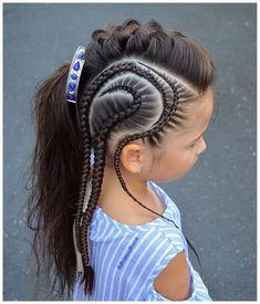 30 Braids Hairstyle Ideas for Little Kids 2019 GALA Fashion Cute Hairstyles For Kids, Kids Braided Hairstyles, Little Girl Hairstyles, Hairstyles Haircuts, Cool Hairstyles, Hairstyle Ideas, Teenage Hairstyles, Cornrow Designs, Curly Hair Styles