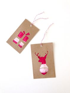Adorable DIY fringed gift tags from Whimseybox