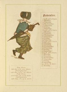 November - Kate Greenaway's Almanack for 1885