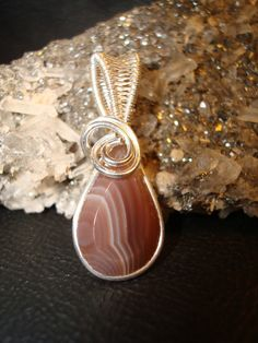 Lake Superior Agate Wire Wrapped Pendant by superioragates on Etsy, $35.00