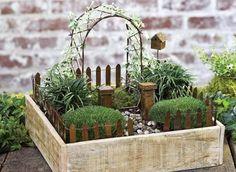 garden train village ideas