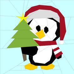 (7) Name: 'Quilting : Penguin #12--10 in.