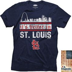 St. Louis Cardinals City Skyline Triblend T-Shirt - MLB.com Shop
