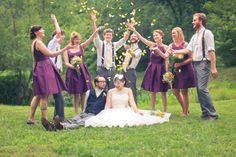 Country Vintage Style Wedding Party