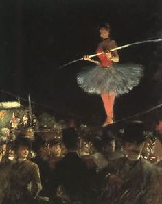 Jean-Louis Forain (1852-1931) – The Tightrope Walker (1895) Art Institute of Chicago.