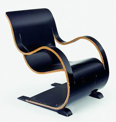 Garth Chester; Lacquered Bent Plywood Lounge Chair, 1940s.