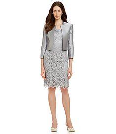 Tahari by ASL Metallic Lace Jacket Dress | Dillard's Mobile