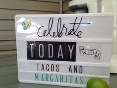 My 'Celebrate Today' with Heidi Swapp Marquee Love Lightbox! Marquee Letters, Marquee Lights, Light Letters, Light Up Box, Light Board, Becky Higgins, Boxing Quotes, Office Signs, Heidi Swapp