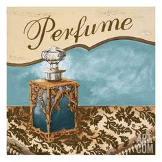 Bath Accessories III - Blue Perfume Giclee Print by Gregory Gorham at eu.art.com