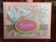 DSP from delightful daisy, cardstocks are flirty flamingo, powder pink and so saffron.