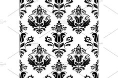 Black And White Colour, Arabesque, Vector Pattern, Abstract Backgrounds, Animals Beautiful, Graphic Illustration, Oriental, Damask Patterns, Creative