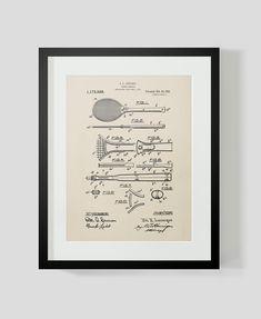 Tennis Racket Patent Print 2
