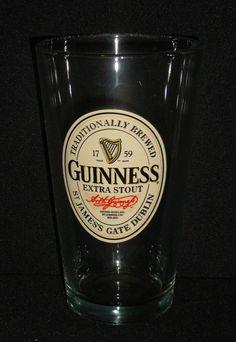 "Guinness Extra Stout Beer Glass Cup Irish Pub 5.5"" Smithwicks Luminarc 16 Oz #Luminarc"