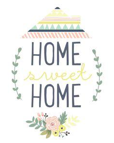 Home Sweet Home Printable - Falala Designs