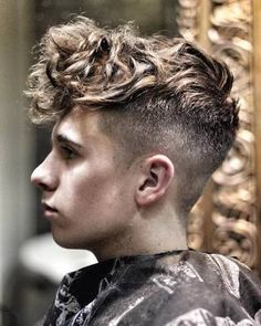 Image result for mens undercut curly hair