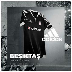 fc4e560371e Besiktas JK 2015 2016 adidas Home, Away, Third Football Kit, Shirt, Soccer