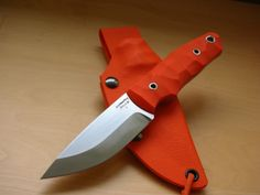 You can't lose this knife from Guycep - Blaze Orange Eclipse