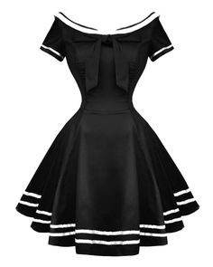 Hearts & Roses | Sailor Salute Dress in Black - Tragic Beautiful buy online…