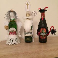Mikuláš, čert, anděl z piva Advent, Handmade, Decor, Hand Made, Decoration, Decorating, Handarbeit, Deco