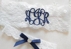 Hey, I found this really awesome Etsy listing at https://www.etsy.com/listing/207875118/monogrammed-wedding-garter-monogrammed