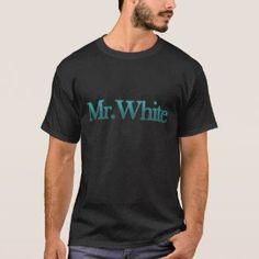 ab9710255 Mr. White – Breaking Bad Reference Men's Tee Shirt Black Metal T Shirts,  Rock
