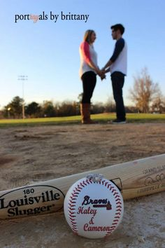 Engagement {baseball theme} @haley van liew Spearsn ; Portrayals by Brittany ©