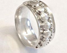 Anello in argento Sterling  moderno argento anello  Mod