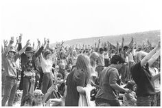 Hippies at Isle of Wight Festival, UK,