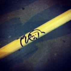 Photo by kayp29 @halimejani @oz_balls Happy birthday to me. Signed drumstick. #winning http://i