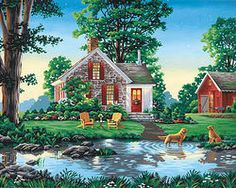 Dimensions Summer Cottage Paint By Number Kit