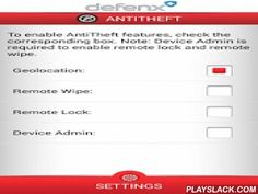 Defenx Security Suite  Android App - playslack.com ,  Defenx Mobile Security Suite is an application designed to safeguard mobile devices (smart-phones and tablets) and the data they hold. The suite consist of Anti-virus, Anti-Theft, Anti-Spam, Anti-Phishing, Secure Browsing and SIM Protection.Defenx Anti-Virus, powerful and easy to use, guards your device against the millions virus, spy-ware, ad-ware and harmful applications that lurk in today's mobile environment. Defenx scanner silently…