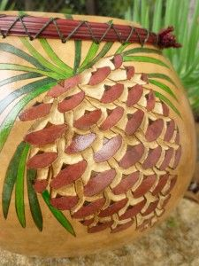 carving a gourd (pinecone) Love, love, love this