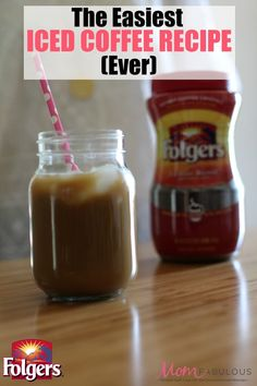 The Easiest Iced Coffee Recipe Ever With just a few ingredients and a little time, you can whip up your own iced coffee at home for a fraction of the cost. Plus, add as little or as much ice as you want. (And no one gets sued…) Coffee Drink Recipes, Coffee Drinks, Folgers Iced Coffee Recipe, Tea Recipes, Crockpot Recipes, Breakfast Recipes, Iced Coffee At Home, Mexican Dessert Recipes, Dessert Ideas