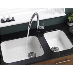 Get yours here first -  a new to the market Astracast undermount gloss white ceramic kitchen sink. #ceramicsinks