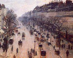 CAMILLE PISSARRO  Boulevard Montmartre por la mañana
