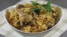 Love the flavor of risotto but don't have the time to make it? This delicious mushroom orzo cooks up in less than 25 minutes without a lot of hands on steps. 4 side dish portions