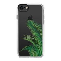 Green palm leaf - iPhone 7 Case And Cover (125 PEN) ❤ liked on Polyvore featuring accessories, tech accessories, phones, iphone case, green iphone case, apple iphone case, clear iphone case, iphone cases and iphone cover case
