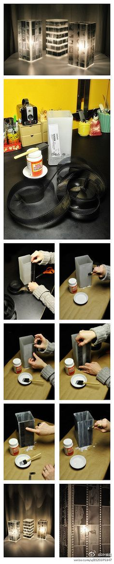 How to make a cool lamp shade with old camera film!