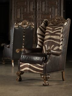 Finely Carved Arm Chair. Fine Furnishings