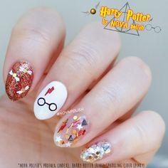 SALE Harry Potter by NOVA polish- Gryffindor, Golden Snitch, Glitter Topper, Hedwig, Deathly Hallows, Platform 9 3/4, Quidditch, Nail Polish by NOVApolish on Etsy https://www.etsy.com/listing/278301714/sale-harry-potter-by-nova-polish