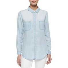 Rails Embroidered Back Denim Shirt as seen on Vanessa Minnillo Lachey