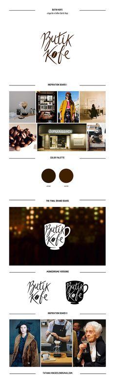 #logotype #logo #inspiration #design #board #graphic #branding #calligraphy #letteringring #coffee #coffeeshop #coffeebean #brown Butik-Kofe logo on Behance