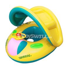 Inflatable Toddler Baby Swim Ring Float Seat Swimming Pool Water Seat with Anti-UV Canopy swimming pool accessories piscina Swimming Pool Water, Baby Swimming, Boat Tubes, Pool Prices, Swimming Pool Accessories, Baby Float, Car Sun Shade, Pvc Material, Pool Toys