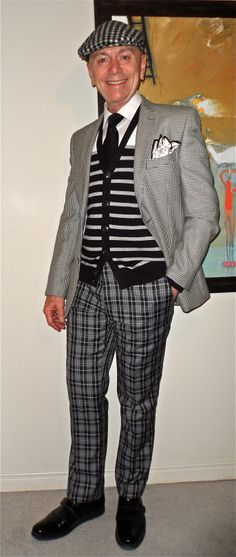 All Black, White & Grey! #mensfashion #fashion #dandy #dapper #sartorial…