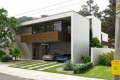 Decor Salteado - Blog de Decoração | Arquitetura | Construção | Paisagismo: Fachadas de casas com vidro: incolor, verde, azul, fumê, espelhado!