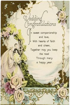 Wedding Congratulations Messages To Pas Of Bride